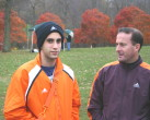 Nick Freeman shown talking with Coach Callanan at NJ MOC
