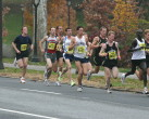 Marc in lead pack about 2k into the race