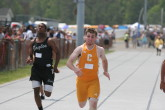 Kevin Merrigan in the 200m